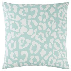 Rizzy Home Andrew Charles Green Animal Print Transitional Throw Pillow