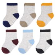 Baby Boy Carter's 6-pack Colorblock Crew Socks