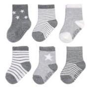Baby Carter's 6-pack Stars & Striped Crew Socks