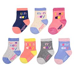 Baby / Toddler Girl OshKosh B'gosh® 7-pack Day of the Week Crew Cut Socks
