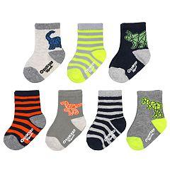 Baby / Toddler Boy OshKosh B'gosh® 7-pack Dinosaur Crew Socks