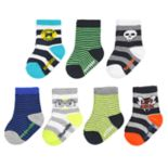 Baby / Toddler Boy OshKosh B'gosh® 7-pack Striped Day of the Week Crew Socks