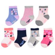 "Baby / Toddler Girl OshKosh B'gosh® 7-pack ""You Go Girl"" Crew Socks"