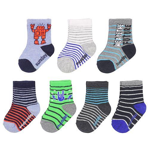 Baby / Toddler Boy OshKosh B'gosh® 7-pack Day of the Week Crew Socks