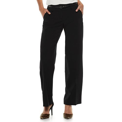 Women's Apt. 9® Curvy Fit Wide-Leg Dress Pants