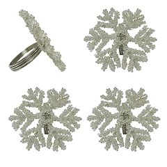 St. Nicholas Square® Beaded Snowflake Napkin Rings