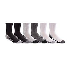 Boys 4-20 Tek Gear® Cushioned 6-Pack Crew Socks