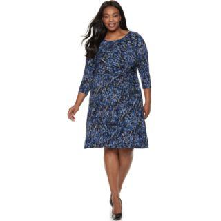 Plus Size Dana Buchman Twist-Front Dress