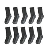Boys 4-20 Tek Gear® Lightweight 10-Pack Performance Crew Socks