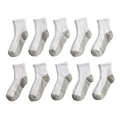 Boys 4-20 Tek Gear® Lightweight 10-Pack Quarter-Crew Socks