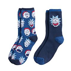 Boys Rick & Morty 2-Pack Boot Socks