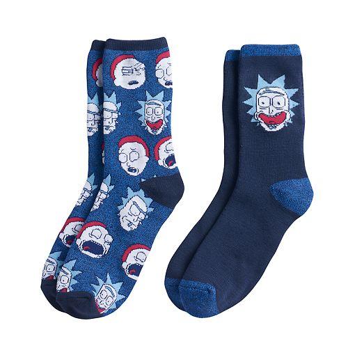 Boys Rick & Morty 2-Pack Boot Socks