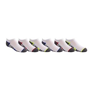 Boys 4-20 Tek Gear® Performance Cushioned 6-Pack No-Show Socks