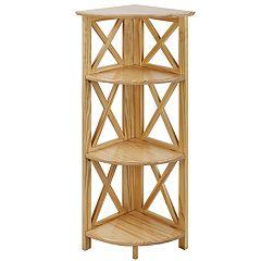 Casual Home Montego 3-Shelf Corner Bookcase