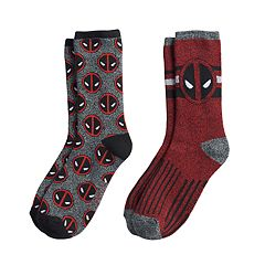 Boys Deadpool 2-Pack Boot Socks