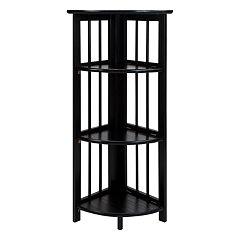 Casual Home 3-Shelf Corner Folding Bookcase