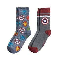 Boys Avengers 2-Pack Boot Socks