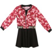 Girls 7-16 Speechless Floral Jacket & Sleeveless Dress Set