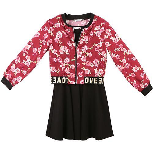 Girls 7-16 Speechless Floral Jacket & Sleeveless Dress Set