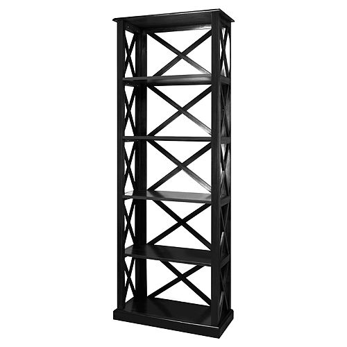 Casual Home Bay View 5-Shelf Bookcase