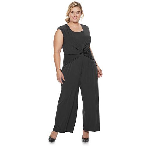 Plus Size Suite 7 Wrap Jumpsuit