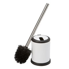 Bath Bliss Self Closing Lid Toilet Brush & Holder