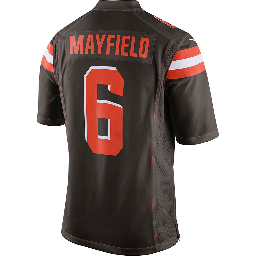 info for f0c2f ed9c9 Men's Nike Cleveland Browns Baker Mayfield Jersey