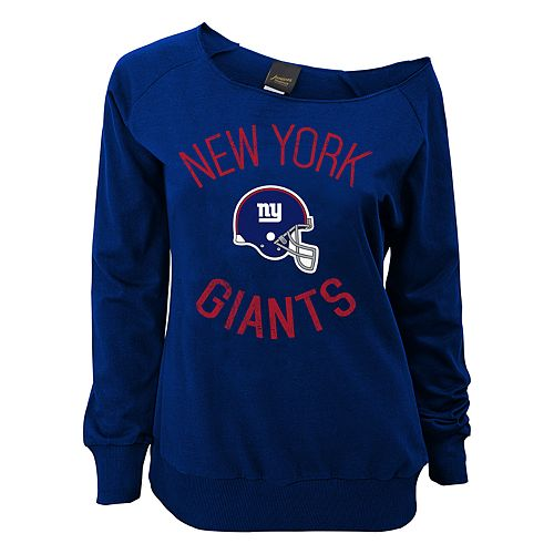 Juniors' New York Giants  Slouch Boat Neck Top