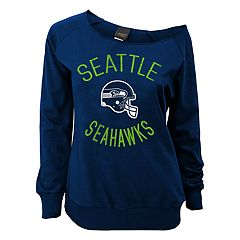 Juniors' Seattle Seahawks  Slouch Boat Neck Top