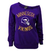 Juniors' Minnesota Vikings  Slouch Boat Neck Top
