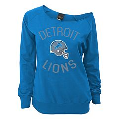 Juniors' Detroit Lions  Slouch Boat Neck Top