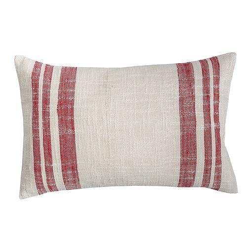 Carol & Frank Morgan Crimson Throw Pillow
