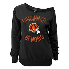 Juniors' Cincinnati Bengals  Slouch Boat Neck Top