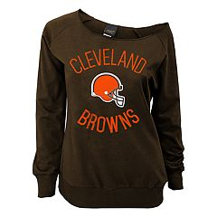 Juniors' Cleveland Browns  Slouch Boat Neck Top