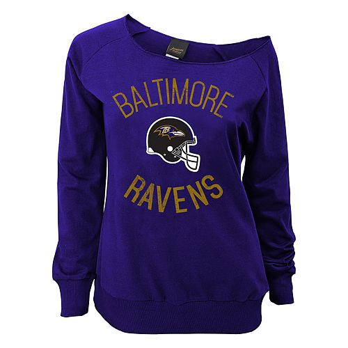 Juniors' Baltimore Ravens  Slouch Boat Neck Top