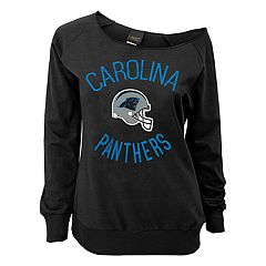 Juniors' Carolina Panthers  Slouch Boat Neck Top