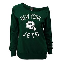 Juniors' New York Jets  Slouch Boat Neck Top