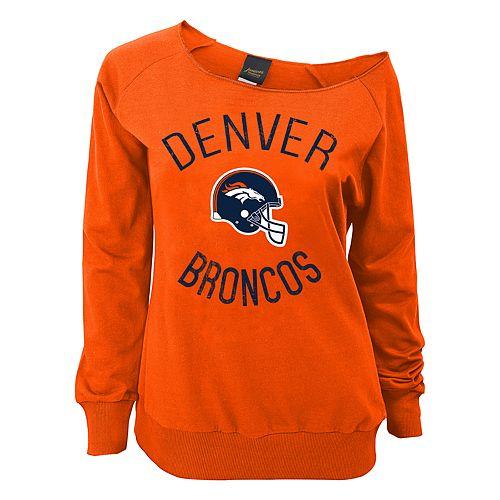 Juniors' Denver Broncos  Slouch Boat Neck Top