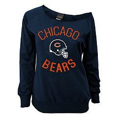 Juniors' Chicago Bears  Slouch Boat Neck Top