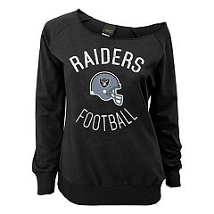 Juniors' Oakland Raiders  Slouch Boat Neck Top
