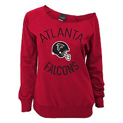 Juniors' Atlanta Falcons  Slouch Boat Neck Top