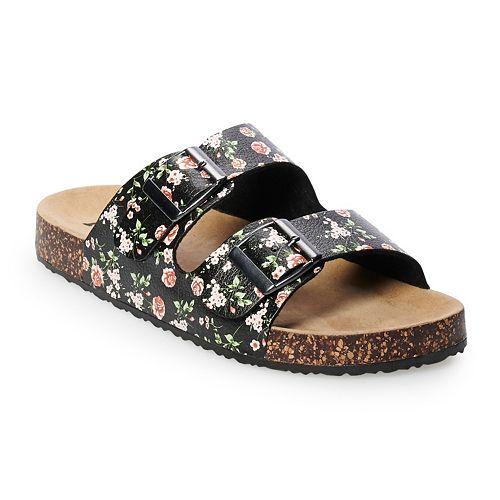 a2bdf8a86b9 Women s Mudd® Floral Double Strap Sandals