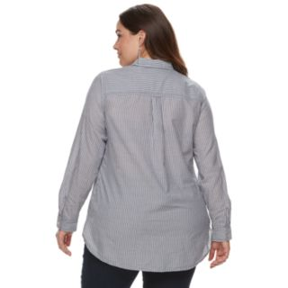 Plus Size SONOMA Goods for Life? Poplin Button-Down Shirt
