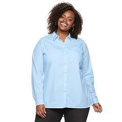 Plus Size SONOMA Goods for Life™ Poplin Button-Down Shirt