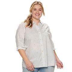 Plus Size SONOMA Goods for Life™ Poplin Button-Down Shirt