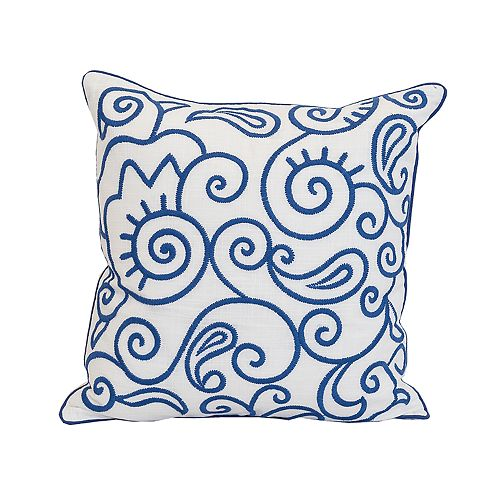 Carol & Frank Swirls Throw Pillow