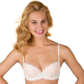 Juniors' Candie's® Bra: Lace Push-Up Balconette Bra