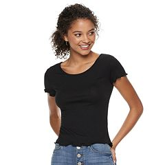 Juniors' SO® Ruffled Tee
