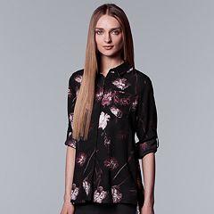 Women's Simply Vera Vera Wang High-Low Hem Chiffon Blouse
