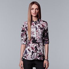 Women's Simply Vera Vera Wang High-Low Hem Chiffon Blouse